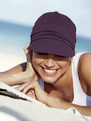 Christine Headwear | SOLEIL CAP Grape Purple | Wigs.co.nz