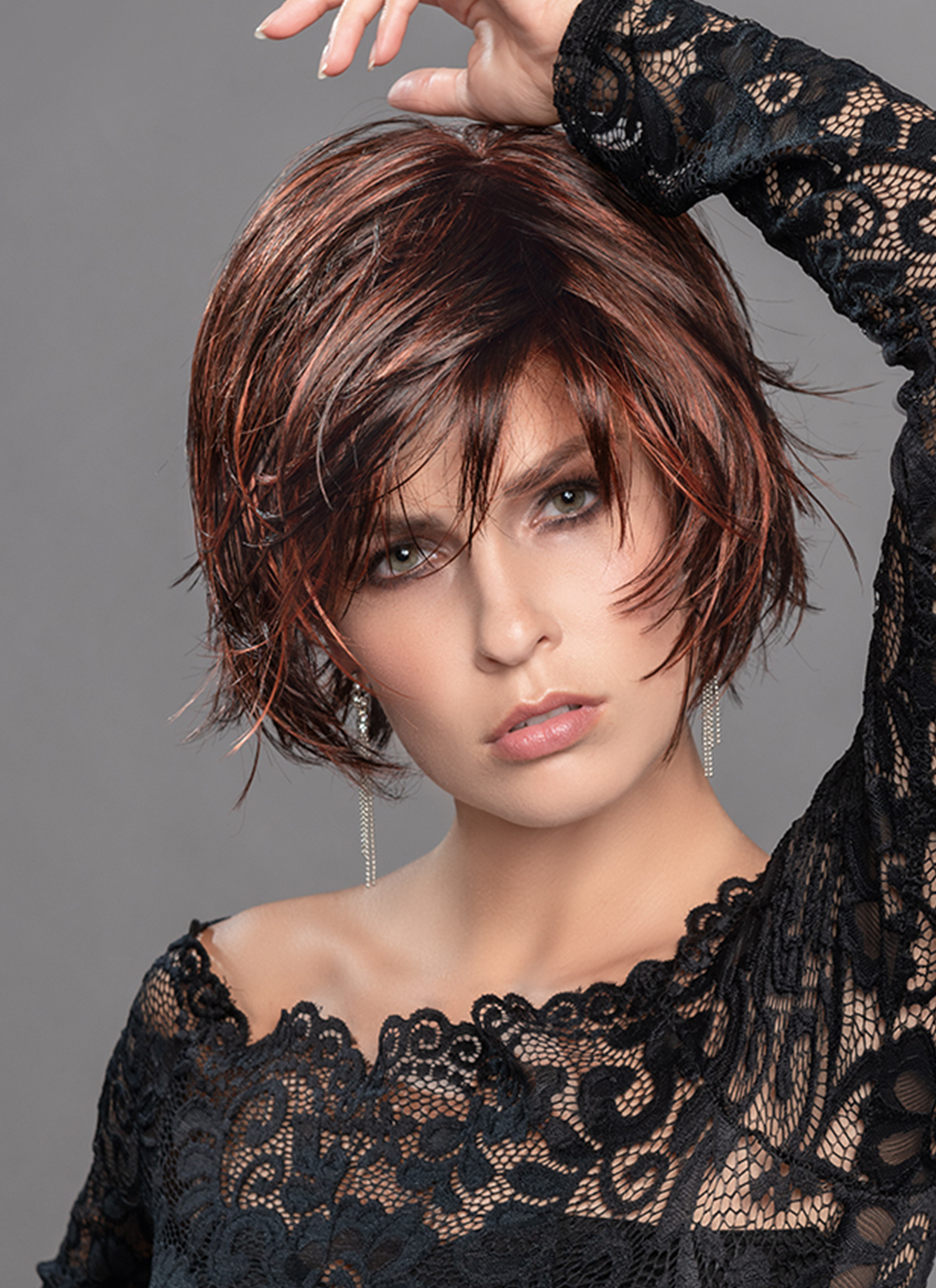 The Echo has a monofilament parting, 100% hand-knotted, for a natural growth appearance where the hair is parting