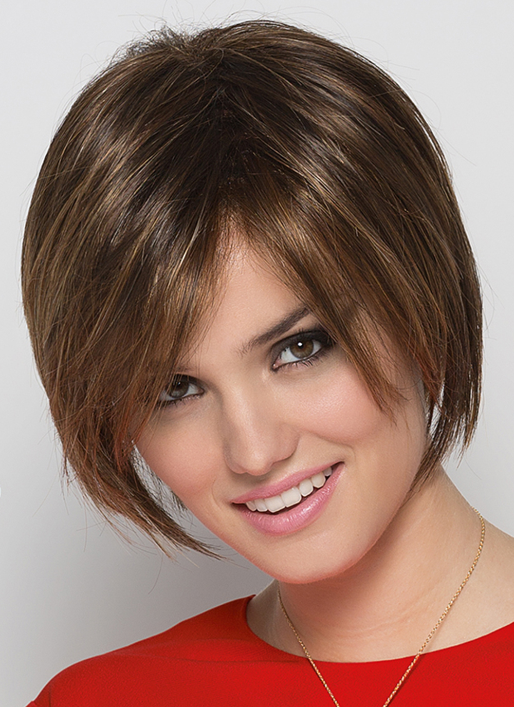 Java Wig by Ellen Wille   Medium-length Synthetic Hair Wig   Colour Chocolate Rooted