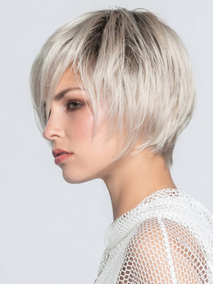 Java | A sophisticated, chin-length bob wig with a perfect cut nape.