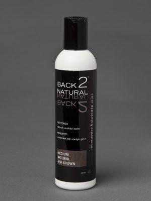 Back2Natural Medium Natural Ash Brown Conditioner | Human Hair Wig Hairpiece Color Restoration