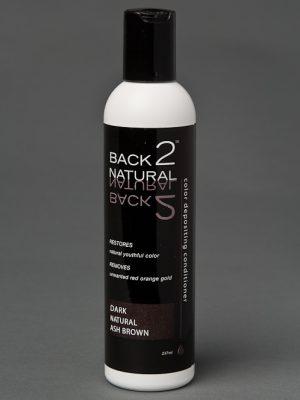 Back2Natural Dark Natural Ash Brown Conditioner | Human Hair Wig Hairpiece Color Restoration