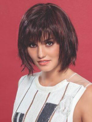 Change by Ellen Wille   The monofilament crown is located behind the bang and gives a scalp-like appearance.