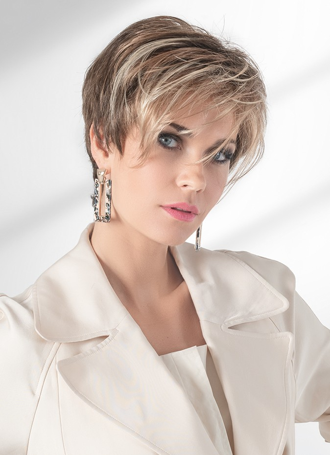First Wig By Ellen Wille   Lace Front 100% Hand Tied   The fringe falls right at the cheekbone and can be styled in front of ear or back away from the face
