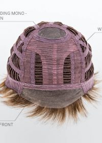 Mono Crown   Lace Front   Wefted CapFront