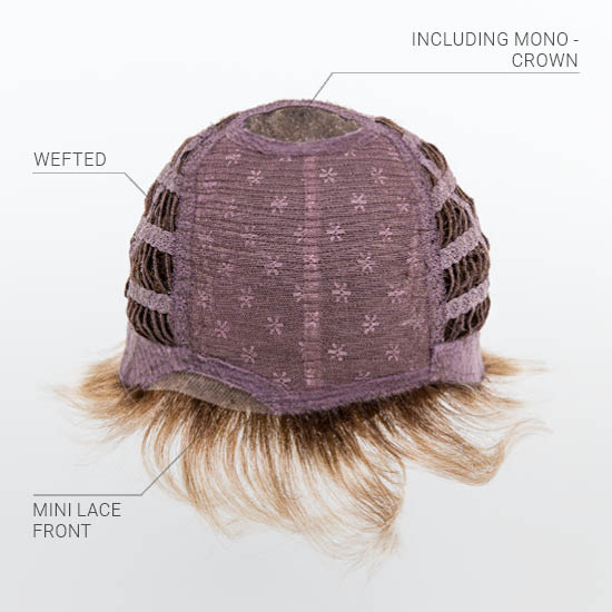 Mono Crown Wefted  Cap with Mini Lace Front