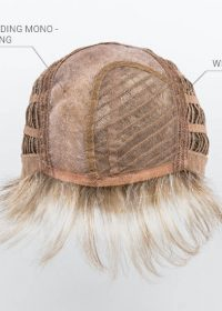 "Mono Parting | Wefted Cap | This type of cap features a wonderfully natural crown or ""crest"" area, where each and every hair has been individually weaved"
