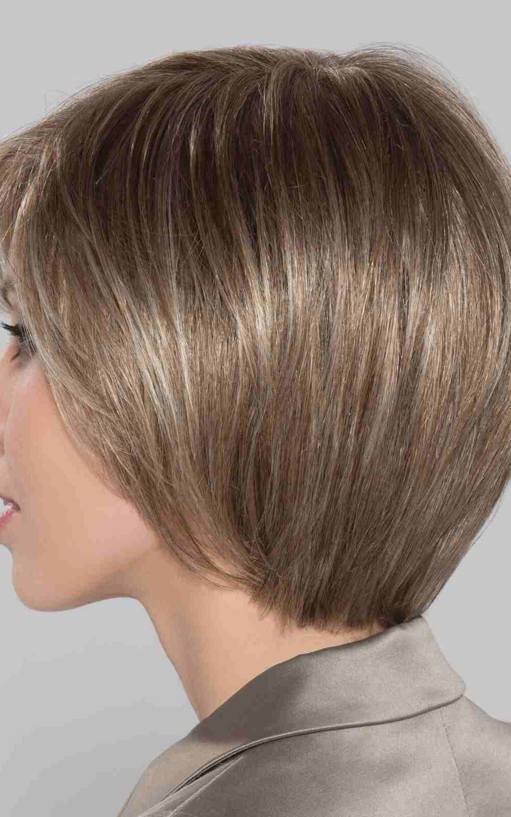 Shine Comfort Wig by Ellen Wille is a shorter length bob.  With a 100% hand-tied cap and a fine elastic tulle crown