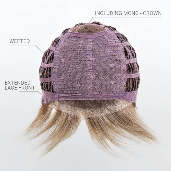 Wefted Cap | Hand-Tied Mono Crown | Extended Lace Front