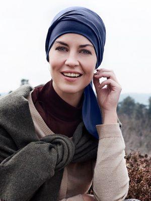 Christine Headwear B.B. BEATRICE TURBAN - DARK BLUE