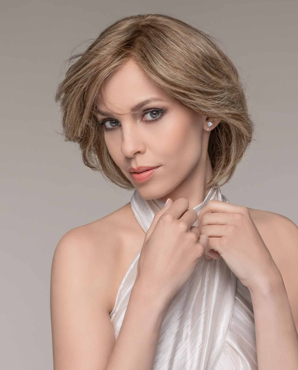 The Brilliance Plus wig by Ellen Wille Wigs is an elegantly layered bob. This softly, bob shaped style is made with 100% Remy Human Hair, the highest and finest quality of human hair.
