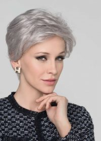 Cara Deluxe   Synthetic Lace Front Wig (Hand-Tied) by Ellen Wille   Silver Mix   Elly-K.com.au