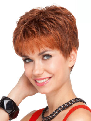 Chip Mono Wig | Luxury & Realistic Wigs | Colour Safran Red Mix | Elly-k.com.au
