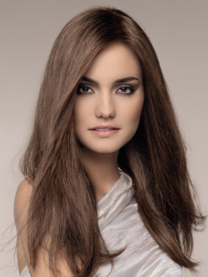 OBSESSION bY ELLEN WILLE in CHOCOLATE-MIX   Medium to Dark Brown base with Light Reddish Brown highlights