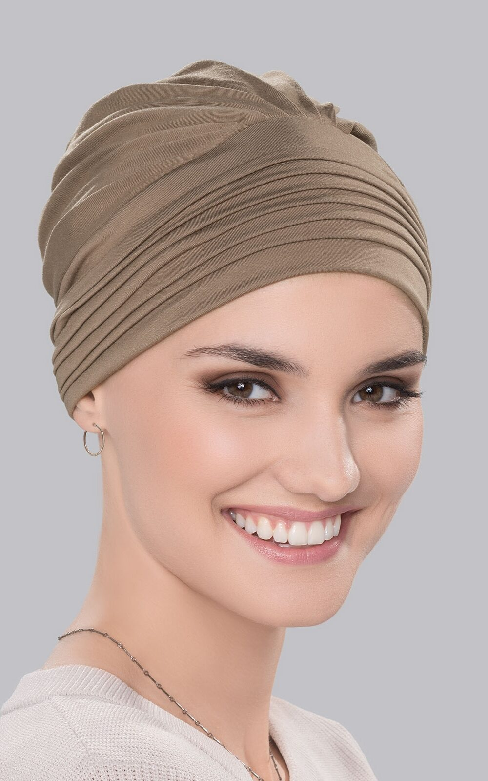 Maia Turban by Ellen Wille   Colour TAUPE