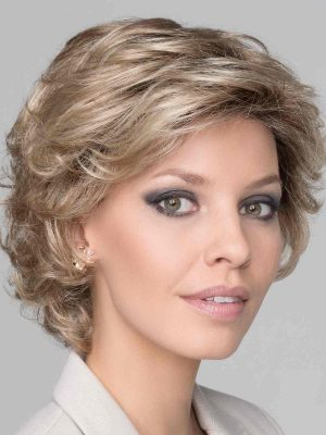 Daily Large Wig by Ellen Wille | Champagne Rooted | Short Layered Wavy Style | Elly-K.com.au