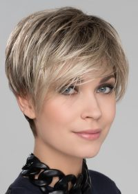 Amazing beautiful asymmetric wig which has the wow factor with its sweeping side fringe and choppy layers