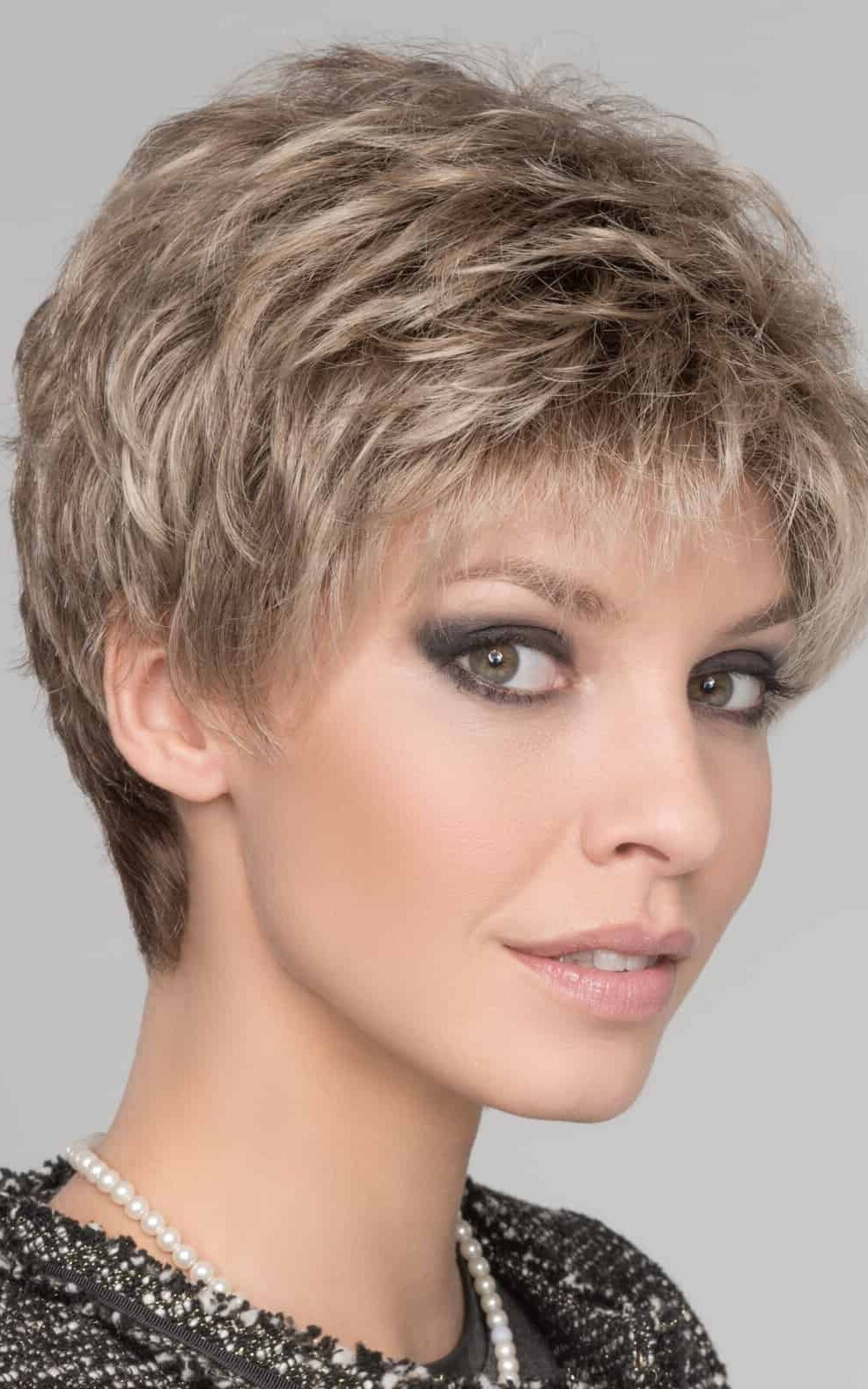 Foxy by Ellen Wille   SAND MULTI ROOTED   Lightest Brown and Medium Ash Blonde Blend with Light Brown Roots