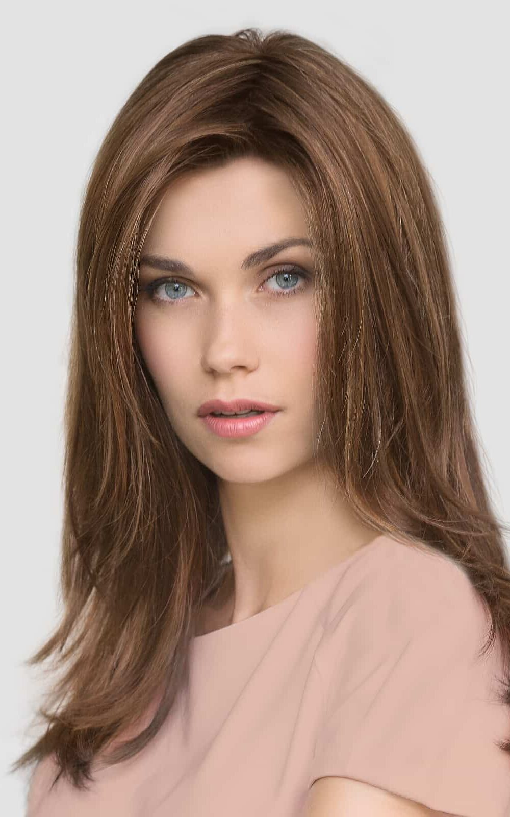 GLAMOUR MONO | CHOCOLATE ROOTED | Medium to Dark Brown base with Light Reddish Brown highlights