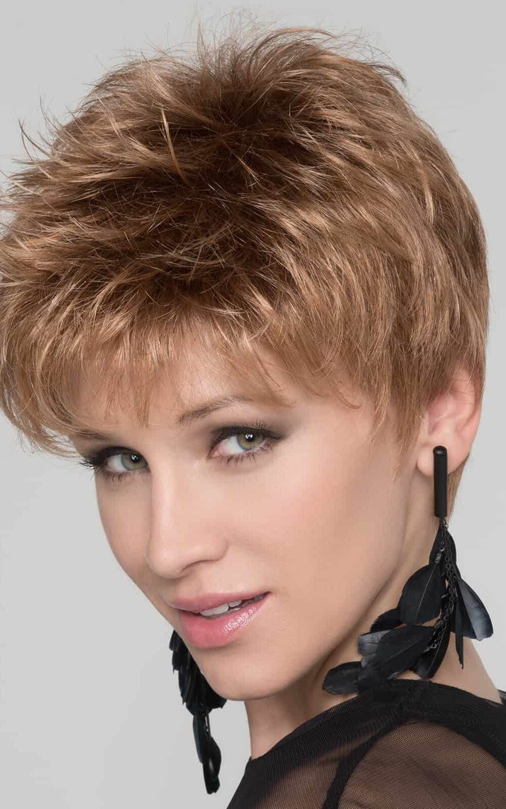 GOLF by Ellen Wille | This short pixie wig can be worn right out of the box | Colour Cognac Mix