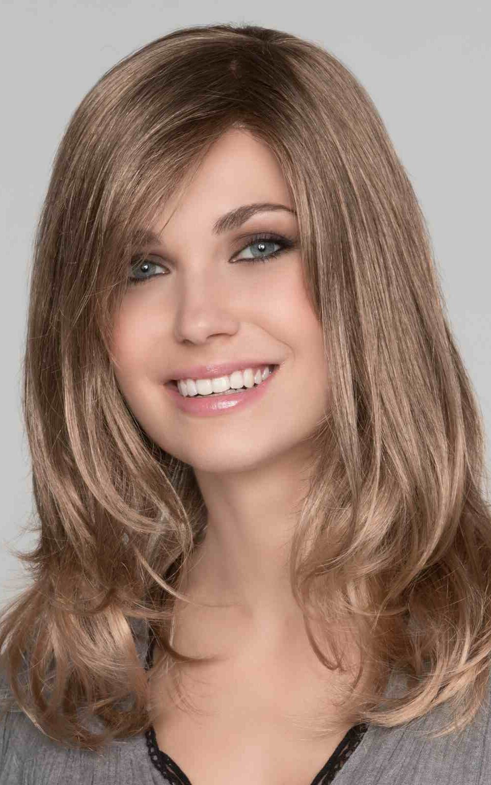 MARUSHA MONO by Ellen Wille in Nougat Mix   Light Brown, Dark Honey Blonde, and Medium to Light Reddish Brown blend