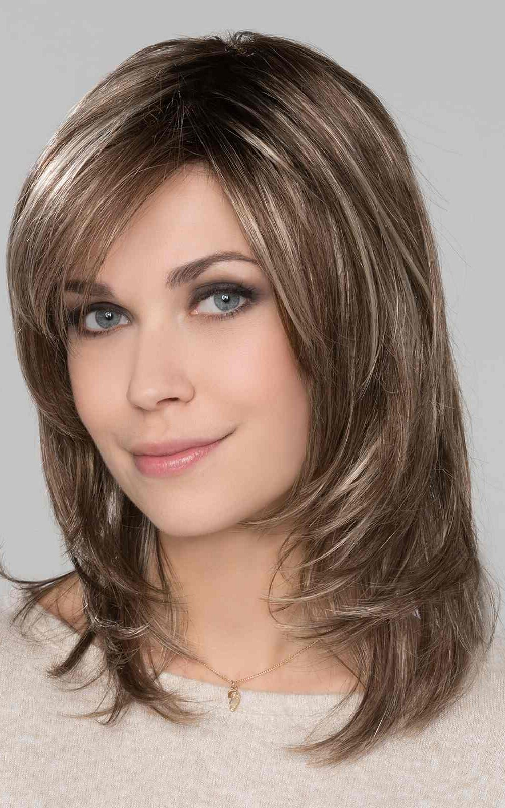 Pam Hi Tec by Ellen Wille | Bernstein Rooted | Light Brown base with subtle Light Honey Blonde and Light Butterscotch Blonde highlights and Dark Roots | Elly-K.com.au