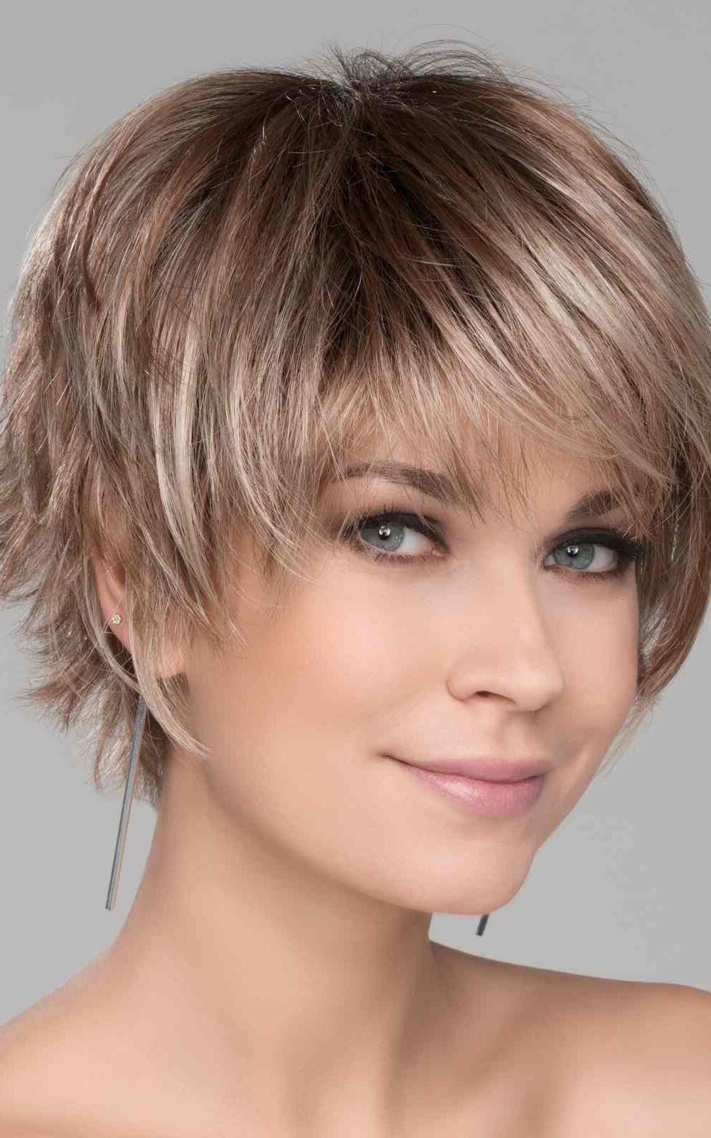 Sky by Ellen Wille   Dark Sand Rooted   A short asymmetrical style with flared ends in the back   Elly-K.com.au