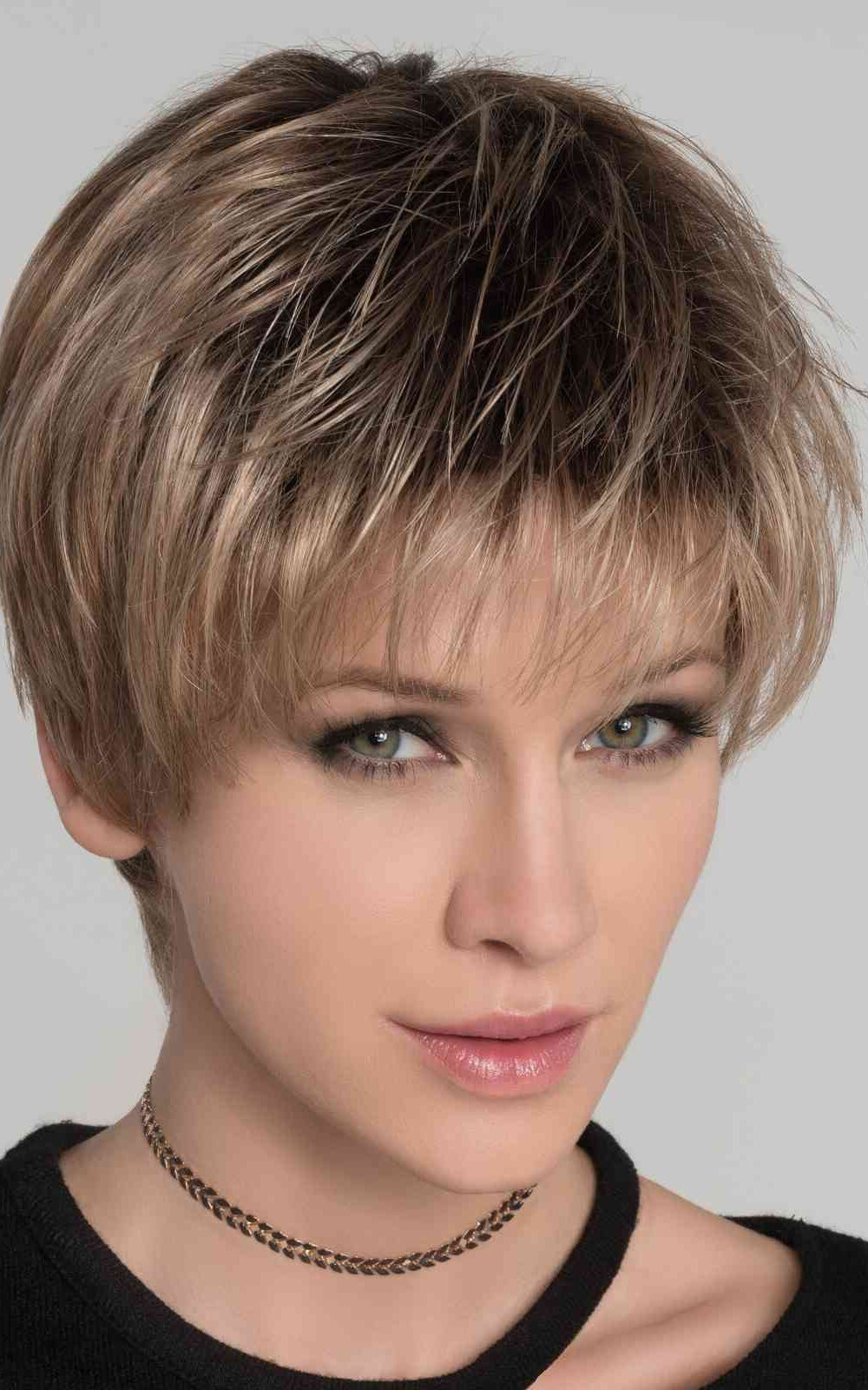 STOP HI TECH by Ellen Wille   Dark Sand Rooted  Weighing less than two ounces, Stop Hi Tec by Ellen Wille Wigs is a light, carefree style boasting ultimate comfort and versatility.