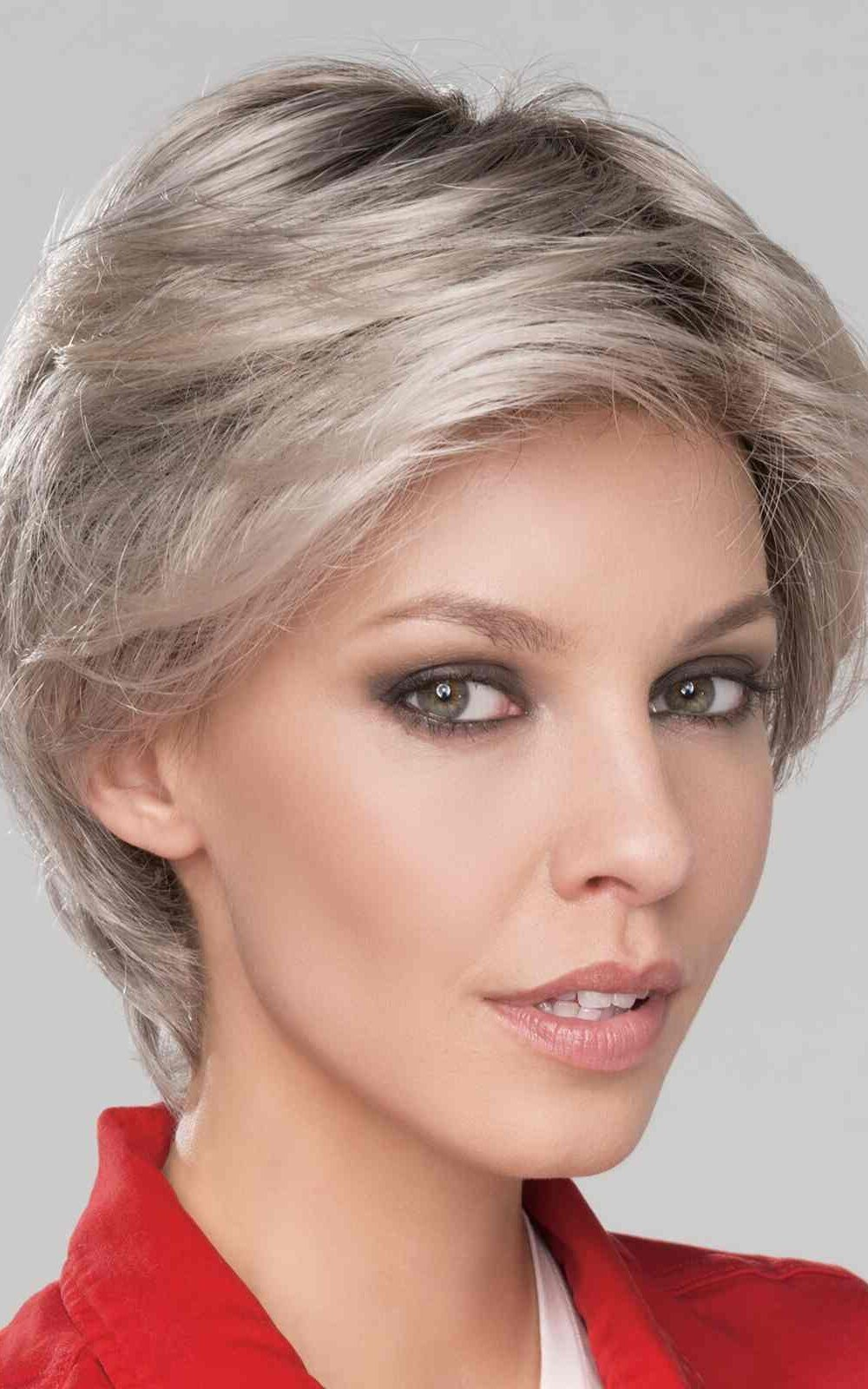 Citta Mono | Synthetic Lace Front Wig (Mono Top by Ellen Wille | Silver Rooted