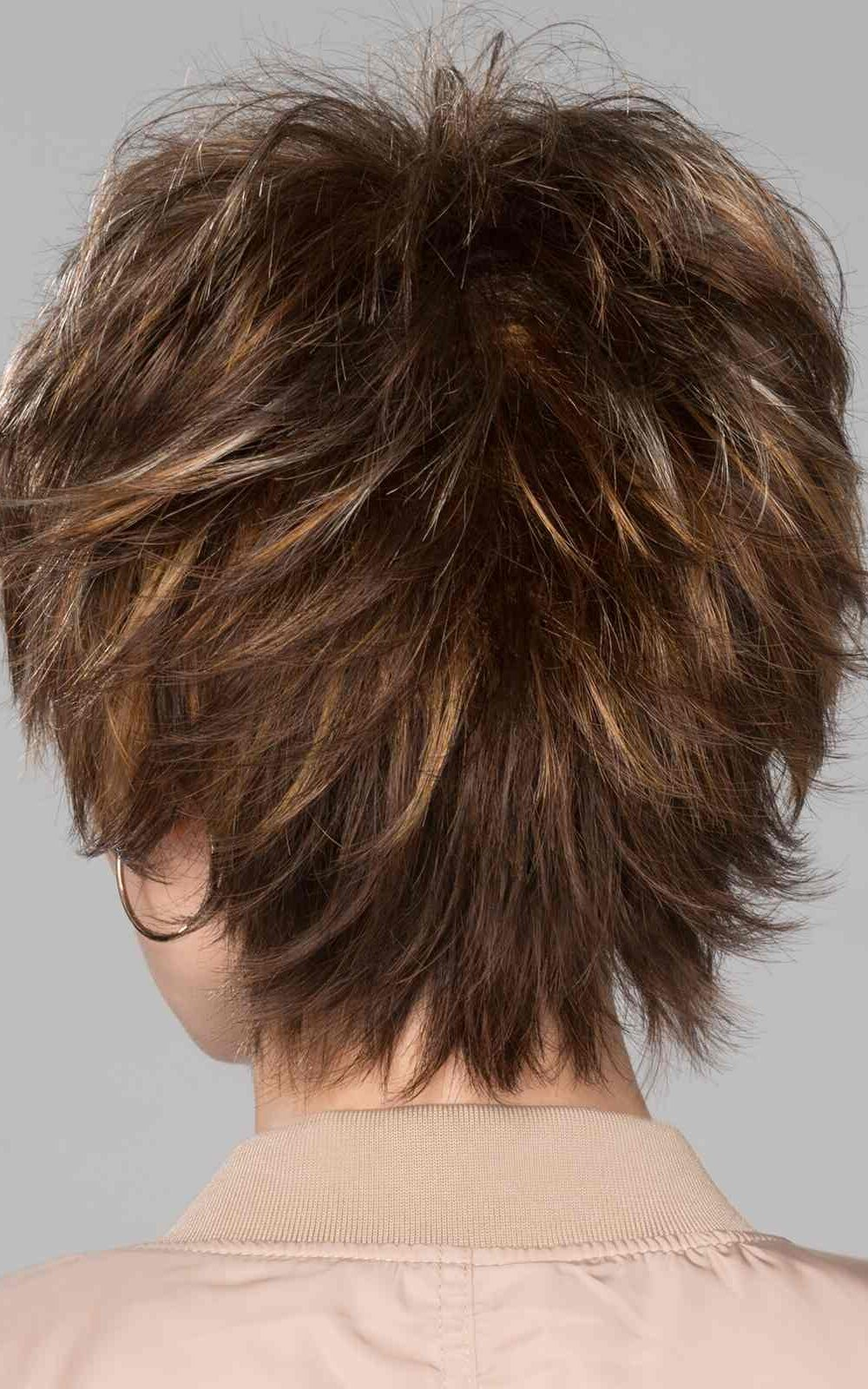 Click Wig by Ellen Wille | Tapered neckline layers blend the choppy crown length | Black | Elly-K.com.au