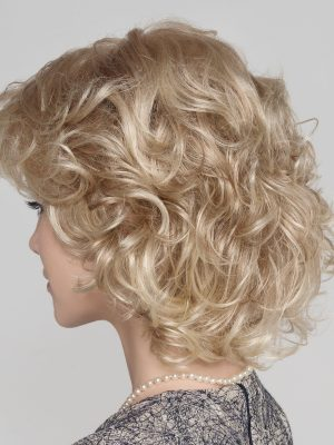 Fullness with soft curls from the temples down