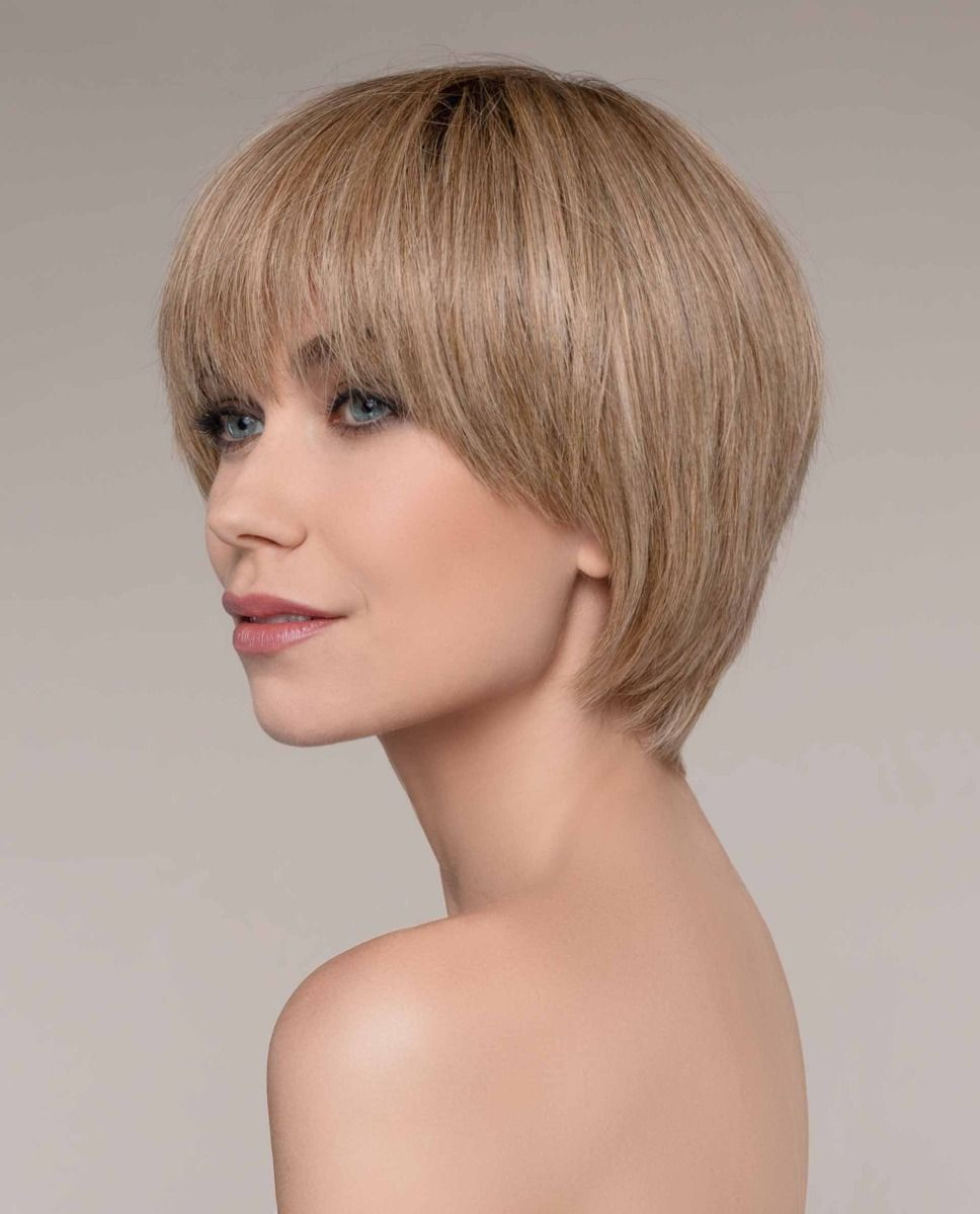 FLAVOUR by ELLEN WILLE in SAND-ROOTED | Light Brown, Medium Honey Blonde, and Light Golden Blonde blend with Dark Brown Roots