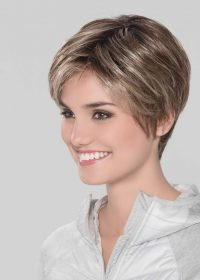 Smart Mono | The lace front adds a natural looking hair part and allows for the hair to be styled off the face.