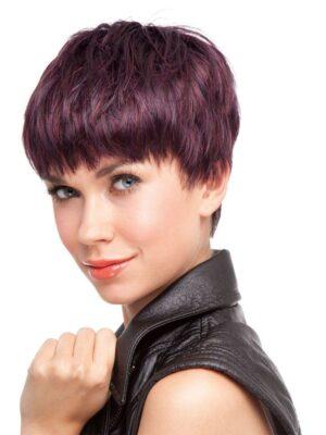 Space Wig By Ellen Wille | Short Hair Wig | Colour Hot Aubergine Mix | Elly-K.com.au