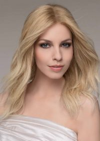 SPECTRA PLUS by ELLEN WILLE in SANDY-BLONDE-ROOTED | Medium Honey Blonde, Light Ash Blonde, and Lightest Reddish Brown blend with Dark Roots
