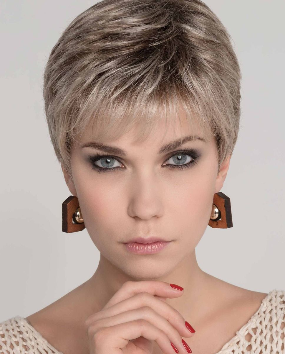 MIA MONO by ELLEN WILLE in SAND MULTI ROOTED   Lightest Brown and Medium Ash Blonde Blend with Light Brown Roots