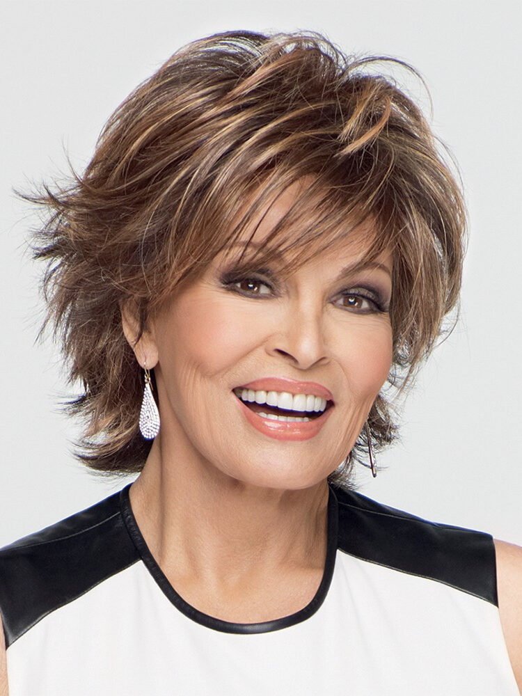 Indiana  by Raquel Welch |  It also features an extended lace front for a natural hairline and off the face styling.