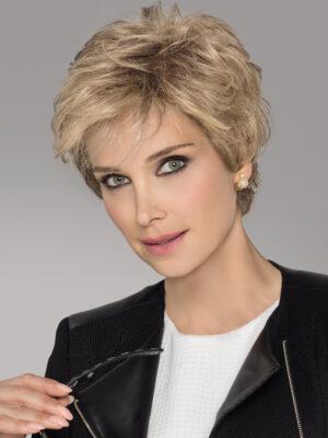 IMPULSE Wig by Ellen Wille in CHAMPAGNE ROOTED | Light Beige Blonde, Medium Honey Blonde, and Platinum Blonde Blend with Dark Roots