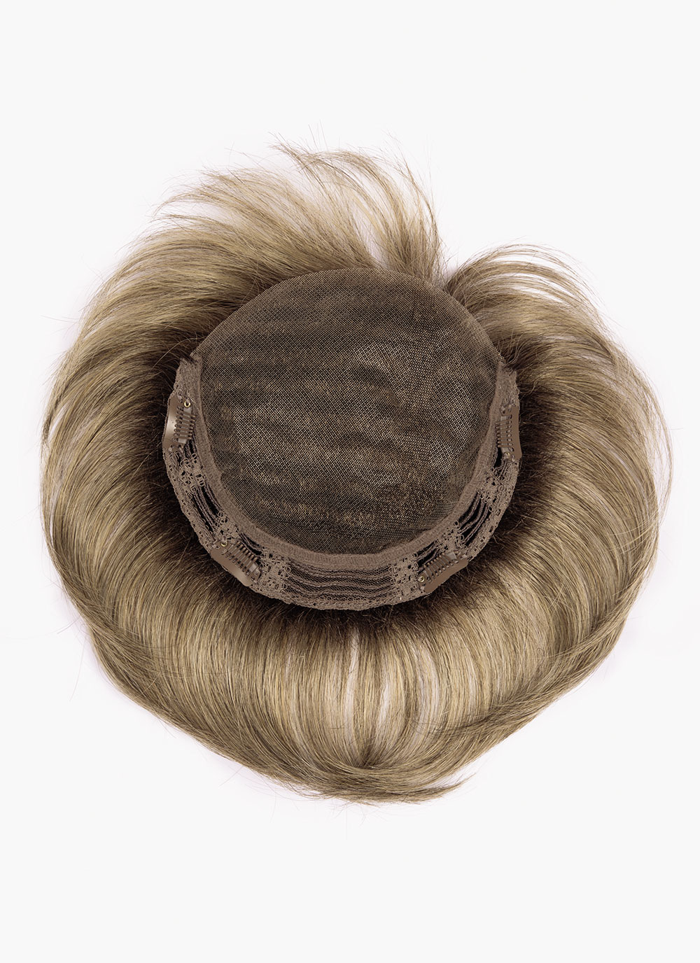 "Lace Top by Ellen Wille   Base Size  17 cm x 16 cm or 6.7""x 6.3""    -  Approximate Hair Length  Fringe: 3.75"" (9.5cm)   Crown: 4.5"" (11.5cm)  Sides: 4.8"" (12cm)"