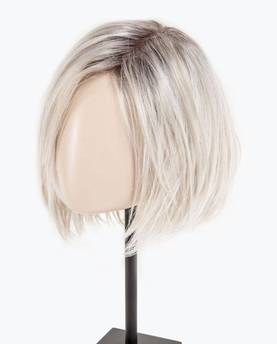 Fizz Topper by Ellen Wille | Light Champagne Rooted | While not a full wig, this 100% hand-tied hair topper, is made of premium synthetic hair and allows styling options and versatility.