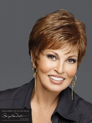 Lima HI by Raquel Welch | short wig with gently waved layers on top that blend to smooth sides and back. It's a soft and light to wear