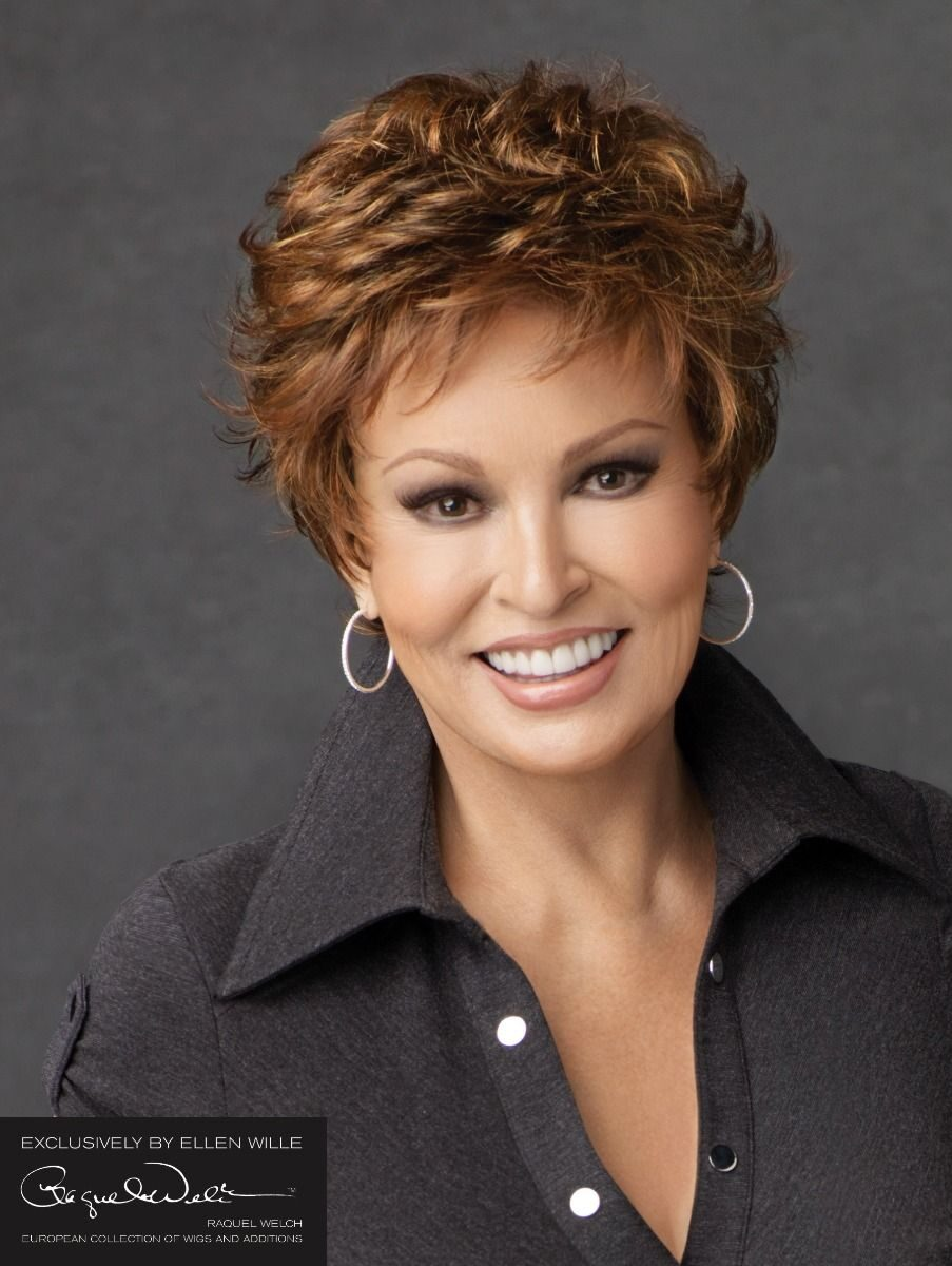 MALIBU BY RAQUEL WELCH   Short cut style with softly curled layers   Colour Chocolate mix