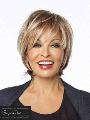 Miami by Raquel Welch | Beautiful choppy style bob with a long fringe you can brush back with the lace front
