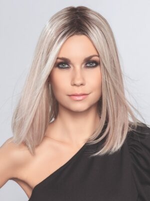 DRIVE by ELLEN WILLE in PEARL BLONDE ROOTED | Pearl Platinum, Dark Ash Blonde, and Medium Honey Blonde mix