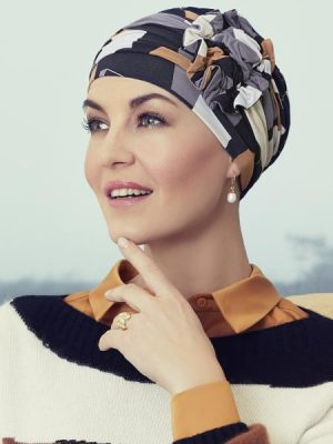 LOTUS TURBAN Printed Shapes of Brown 1008-0671 | Wigs.co.nz